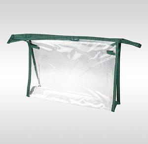 Косметичка ПВХ зеленая горизонтальная 24 x 17 x 6 см
