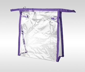 Косметичка прозрачная ПВХ фиолетовая 19 x 17 x 6 см