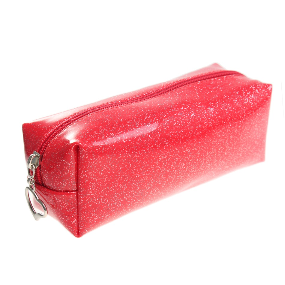 Блестящая косметичка (с блестками) красного цвета