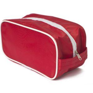 Несессер из ткани полиэстер красного цвета