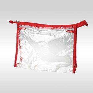 Косметичка ПВХ горизонтальная красная 24 x 17 x 6 см