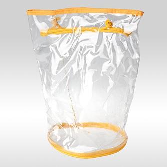 Прозрачная косметичка тубус желтая